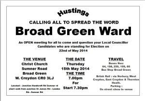 Broad Green hustings 15 May 14