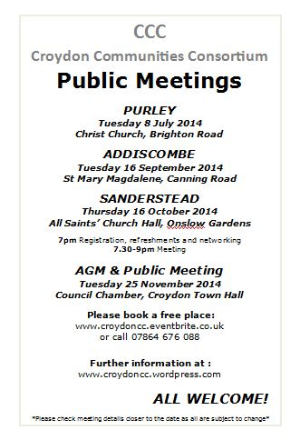 Meetings July to Nov 14