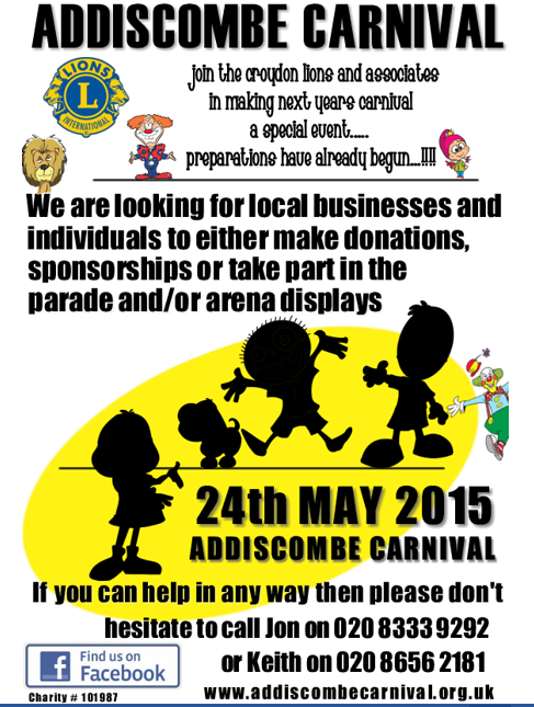 Addiscombe Carnival poster