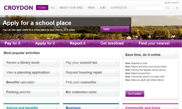 Croydon website