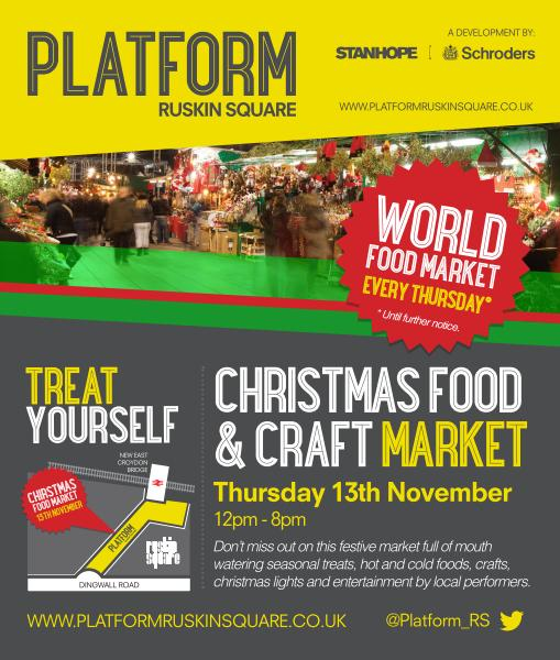 Platform Christmas and craft market