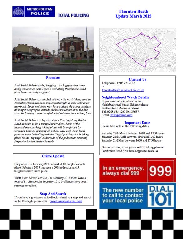 Thornton Heath Mar 15