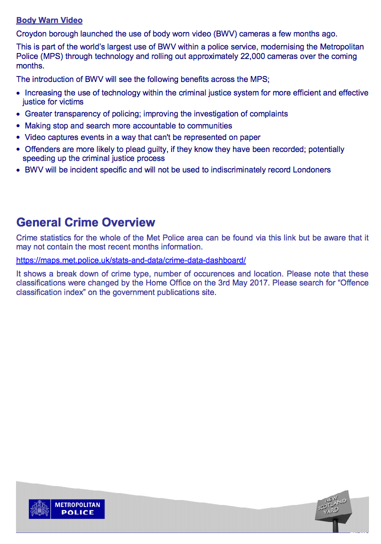 Croydon Policing Newsletter – Coulsdon West – June 2017 | CCC