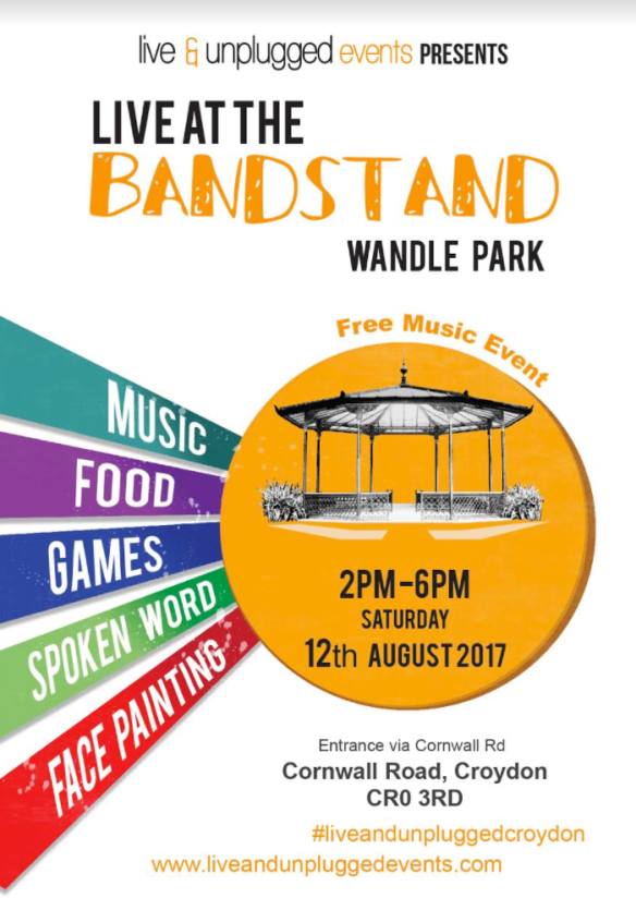 live unplugged returns to wandle park for 3rd annual event 12 august from 2 5pm
