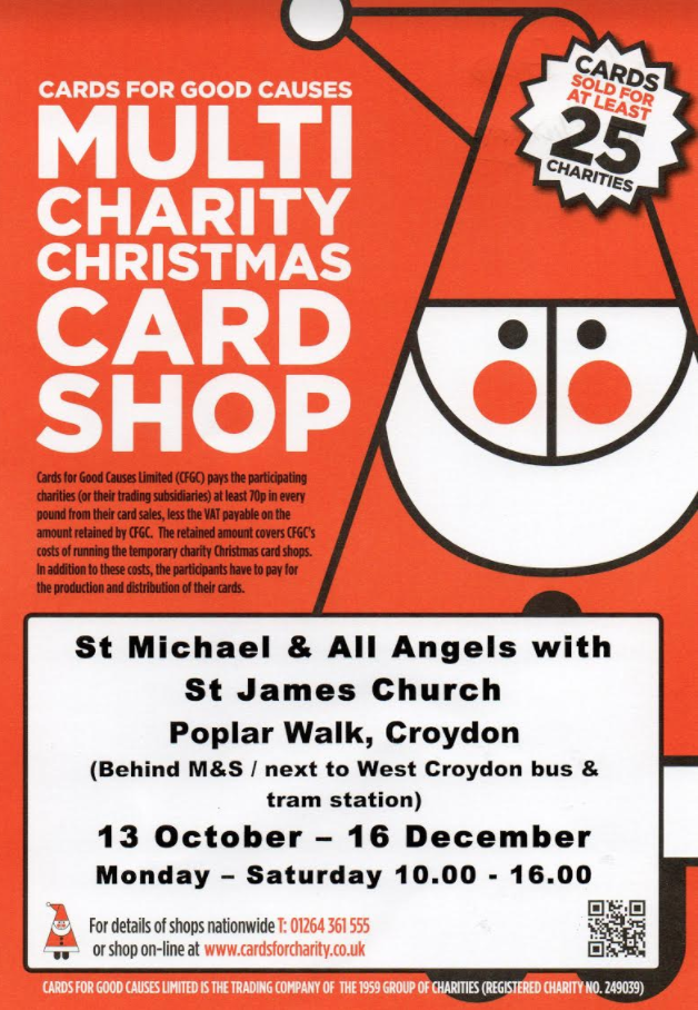multi charity christmas card shop open until 16 december 2017 in st michaels church hall poplar walk - Christmas Cards For Charity 2017